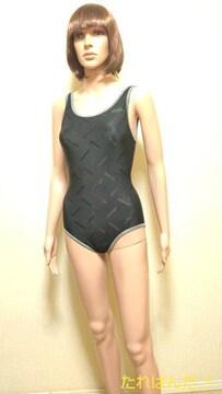 ellesse☆光沢透しロゴ&パイピングの競泳 水着5451☆3点で即落