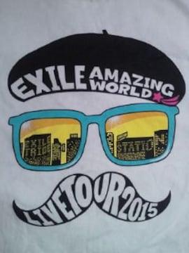 EXILE エグザイル ライブ コンサート AMAZING WORLD Tシャツ ホワイト Lサイズ 2015