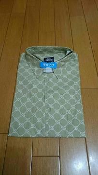 STUSSY  モノグラム半袖シャツ