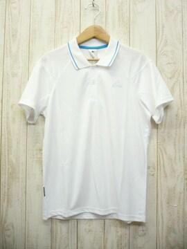 即決☆アディダス 特価 ハイテク 半袖ポロシャツ WHT/L 新品