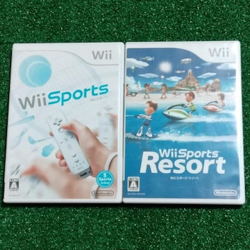★Wiiソフト『Wii Sports&Resort』2本セット#送料込み#難アリ