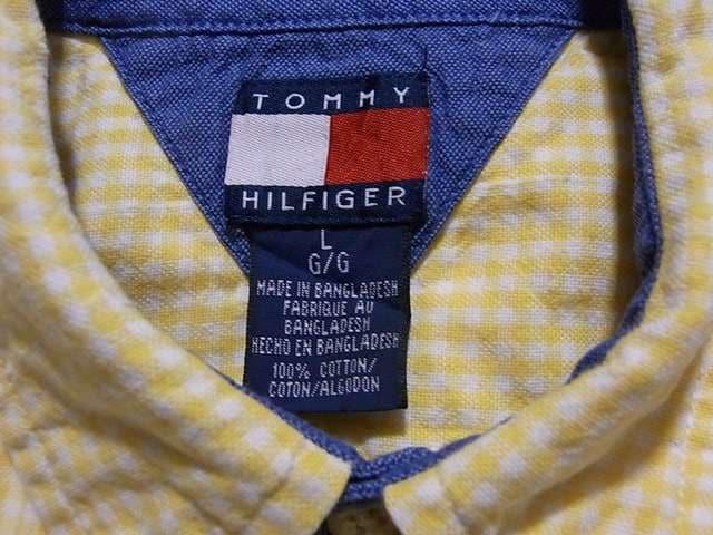 即決USA古着●トミーヒルフィガーチェック半袖シャツ!アメカジビンテージ < ブランドの