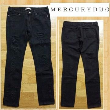 MERCURYDUO マーキュリーデュオ ダメージスキニー 25 美品 ブラック