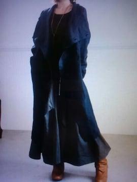 ●08mab●リネン スタンドカラージャケット*カーデ 新品9612円ブラック