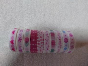 新品 マスキングテープ 10個セット ピンク系