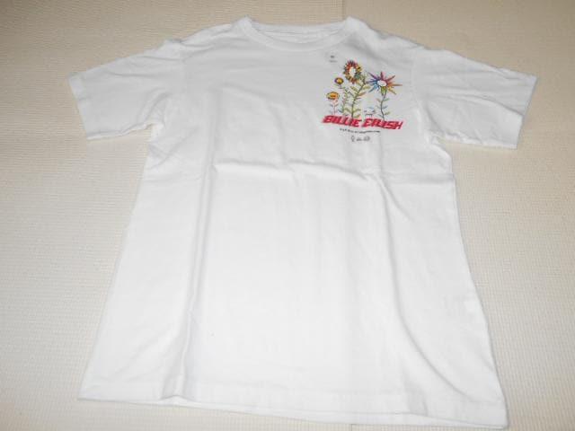 UNIQLO ビリー・アイリッシュ 半袖Tシャツ ホワイト 130サイズ < ブランドの