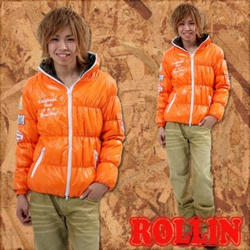 Rollin(ローリン)梅しゃん着中綿ダウンジャケット/M