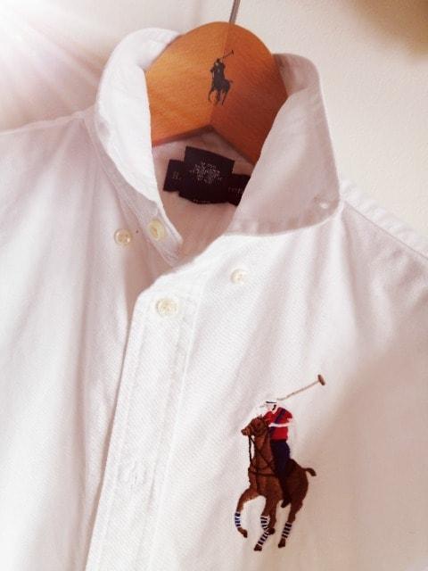 RALPH LAUREN☆オックスフォード定番ビックロゴ。シャツ☆人気ラルフローレン♪。゜ < ブランドの
