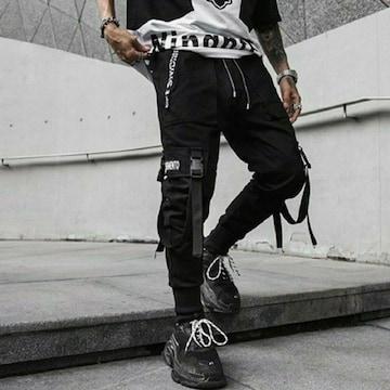 両足ベルト カーゴ ダンス 原宿系ファッション