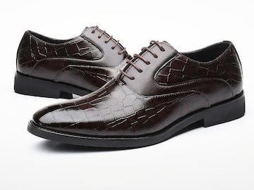 28.5 クロコ ドレスシューズ 靴 トンガリ メンズ ヤクザ オラオラ お兄系 ホスト 119 赤