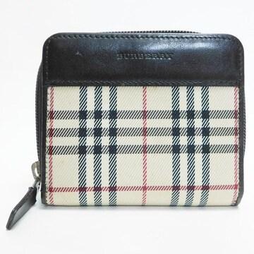 美品Burberryバーバリー 二つ折り財布 ノバチェック 良品 正規品