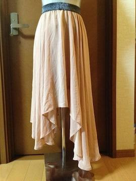 ☆大人気ピンクサーモン♪アシンメトリースカート☆ギャル風