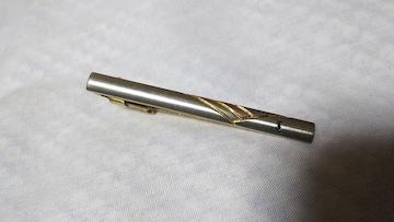 正規レア イヴサンローラン YSL コンビカラー yエンブレムラインネクタイピン ゴールド×シルバー