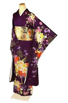 【最高級】【新品】 金彩 シシュウ 花束文 振袖 T2249