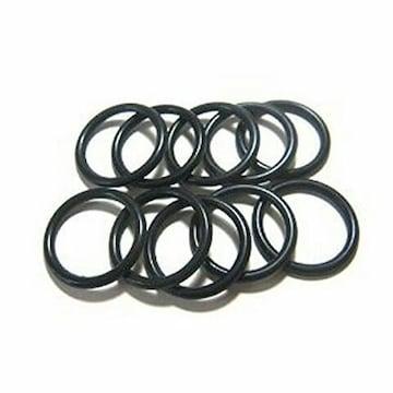 ラバーリング ゴムリング 指輪 (9号) 黒 6本SE