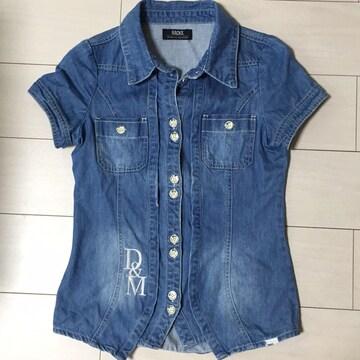 BACKS☆デニムシャツ☆インディゴ☆半袖カットソー☆ジャケット