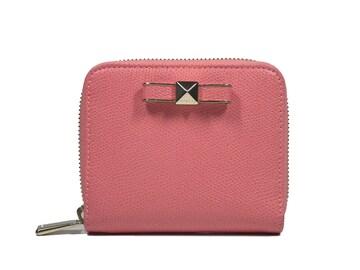 正規美品FURLAフルララウンドファスナー財布リボンレディ