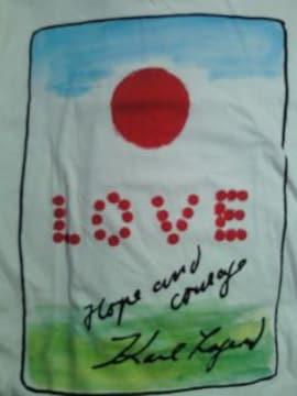 CHANEL シャネル カール ラガーフェルド ユニクロ 東日本大震災復興 Tシャツ XS 白