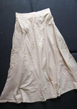 LL★斜めストライプ★ロングフレアスカート★大きいサイズ