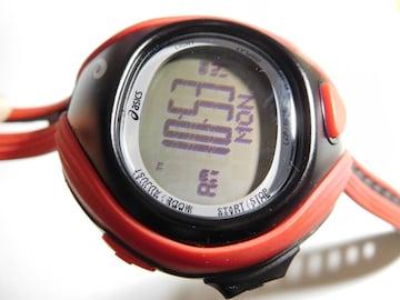 アシックスの腕時計デジタル 稼動品 取説付き!。