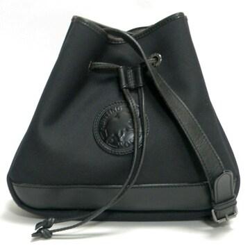 ハンティングワールド 巾着 ショルダーバッグ 黒 良品 正規品