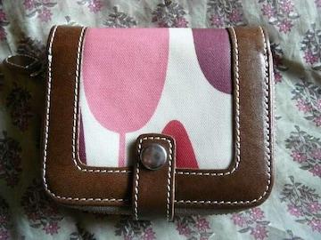 オーラカイリーブラウン皮革&コーティング折財布