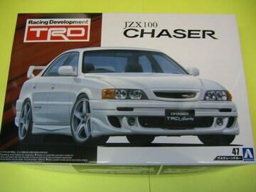 アオシマ 1/24 ザ・チューンドカー No.47 TRD JZX100 チェイサー '98(トヨタ)