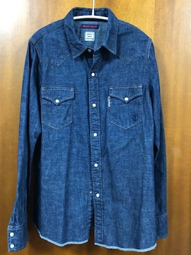 BLUE BLUE×グリーンレーベルリラクシング☆デニムシャツ