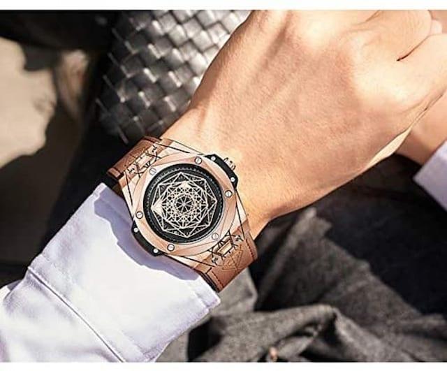 六芒星 時計 腕時計 メンズ クォーツ アクセサリー < 男性アクセサリー/時計の