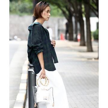 【新品】羽織りに便利なロングチェックシャツ・LLサイズ