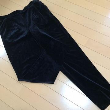 新品◆ミセス向き大きいサイズ◆ベルベットパンツ◆15号ブラック