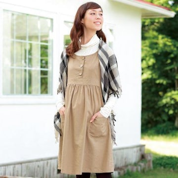 マタニティ☆キャンバスジャンパードレス