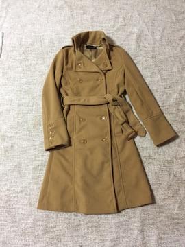 642.クラムジー☆冬コート☆キャメル☆S程度