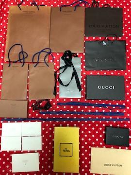 ルイヴィトン など 紙袋、箱、りぼん、布袋