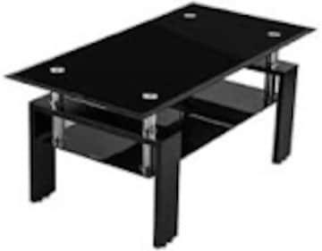 オーエスジェイ(OSJ)ガラステーブル コーヒーテーブル ブラン