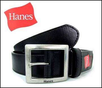 ヘインズ黒 牛革ベルト Hanes