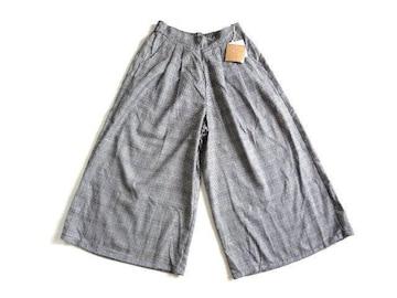 新品 blistorm グレンチェック ワイド パンツ ガウチョパンツ