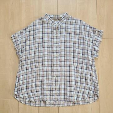 フェリシモ 大きいサイズ 涼やかチェックシャツ 試着のみ