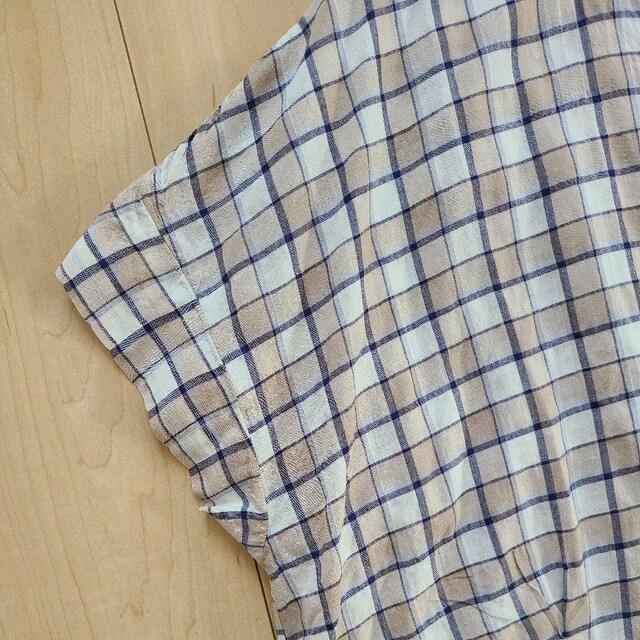 フェリシモ 大きいサイズ 涼やかチェックシャツ 試着のみ < 女性ファッションの