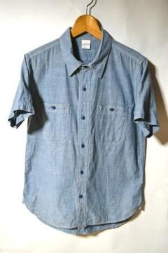 キャブクロージング シャンブレーシャツ 半袖 ブルー M メンズ