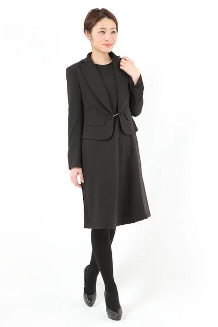 女性スーツ 冠婚葬祭ママ喪服ブラック入学卒業お受験 M9号  < 女性ファッションの