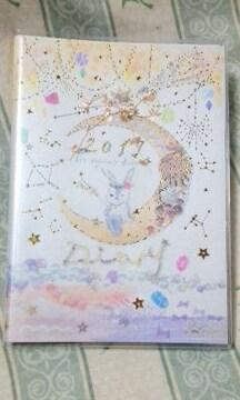 新品2019年 スケジュール手帳定価\1080月うさぎキラキラ