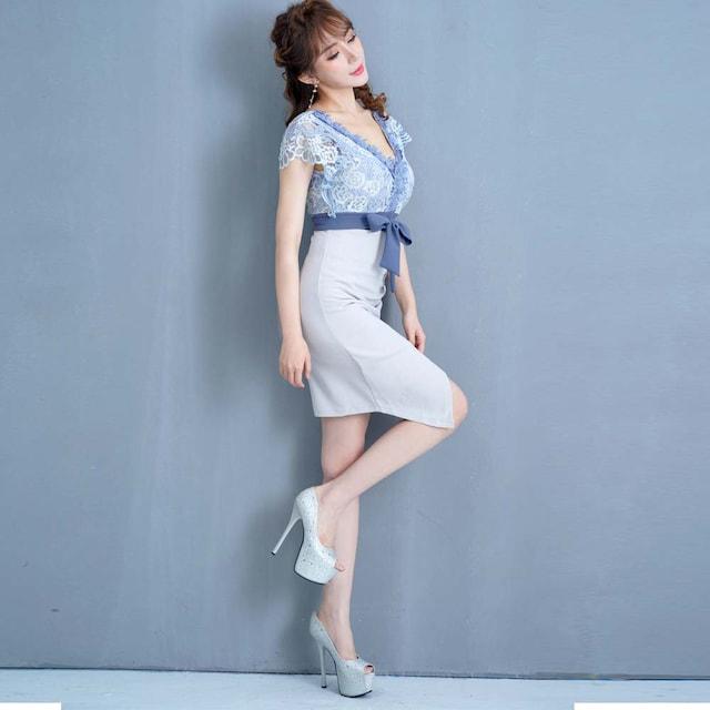 ケミカルレースミニドレス パーティードレス キャバ チャムドレス < 女性ファッションの