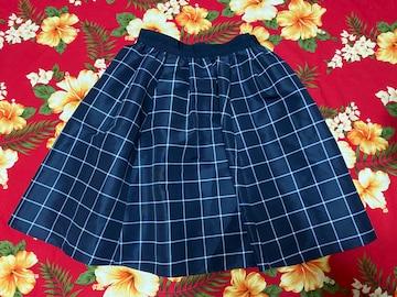 JILLSTUART☆上質☆ネイビーチェック☆スカート☆