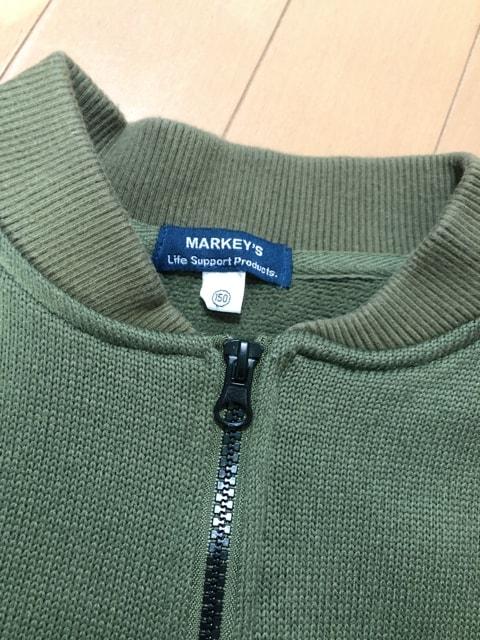 ...MARKEY'S/MA-1風トップス/150... < キッズ/ベビーの