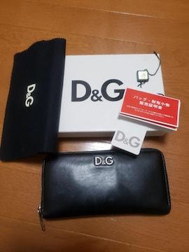 ☆USED☆D&Gドルガバ☆正規品☆ブラックレザー長財布
