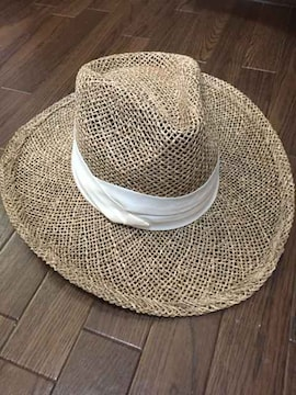kasco つば広麦わら帽子 中折れ帽子 フリーサイズ ゴルフにも