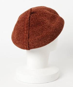 lala Born ギャザリングベレー帽 帽子 ベージュ