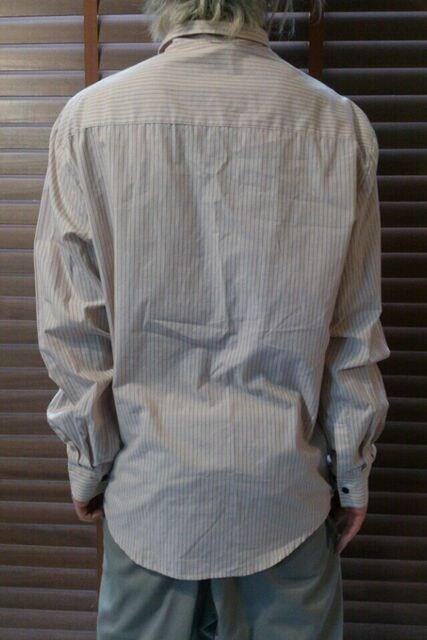 即決ハーレーHurleyマリアストライプシャツ!パンクロックスケーターサーファーバイカースタイル < 男性ファッションの