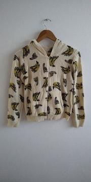バナナ柄ニットパーカー